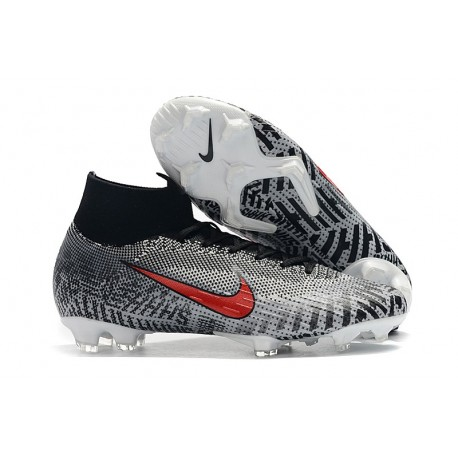 best loved 36fd1 cf723 Nike Mercurial Superfly 6 Elite FG Fotbollsskor - Neymar Svart Vit Röd