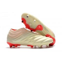 Fotbollsskor för Män adidas Copa 19+ FG - Vit Röd