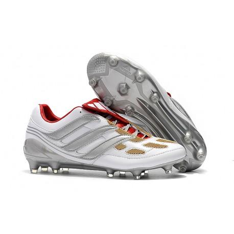 adidas Fotbollsskor Predator Accelerator Electricity FG - Svart Vit Blå