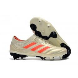 adidas Copa 19.1 FG Fotbollsskor för Män - Vit Orange
