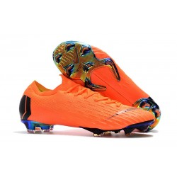 Nike Fotbollsskor Mercurial Vapor 12 Elite FG - Orange Svart