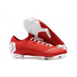 Nike Mercurial Vapor XII Elite FG Fotbollsskor för Män Röd Vit