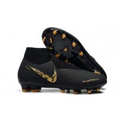 Nike Phantom VSN Elite DF FG Fotbollsskor för Herrar - Svart Guld