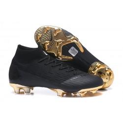 Nike Fotbollsskor Mercurial Superfly VI Elite FG - Svart Guld