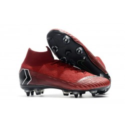Nike Mercurial SUPERFLY 6 ELITE SG-PRO Anti-Clog Röd Svart