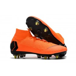 Nike Mercurial SUPERFLY 6 ELITE SG-PRO Anti-Clog Orange Svart