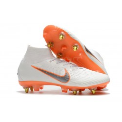 Nike Mercurial SUPERFLY 6 ELITE SG-PRO Anti-Clog Vit Orange