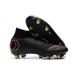 Nike Mercurial SUPERFLY 6 ELITE SG-PRO Anti-Clog Svart Orange