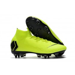 Nike Mercurial SUPERFLY 6 ELITE SG-PRO Anti-Clog Volt Svart
