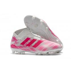 adidas Nya Fotbollsskor för Herrar Nemeziz 18+ FG - Rosa Vit