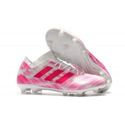 adidas Nemeziz 18.1 FG Fotbollsskor - Rosa Vit