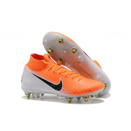 new product bcea5 e142b Nike Mercurial Superfly 360 SG-PRO AC Fotbollsskor Orange Vit