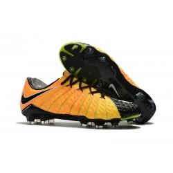 Nike Fotbollsskor HyperVenom Phantom III Elite FG - Gul Svart