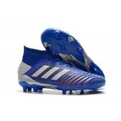 adidas Predator 19.1 FG Fotbollsskor - Blå Silver