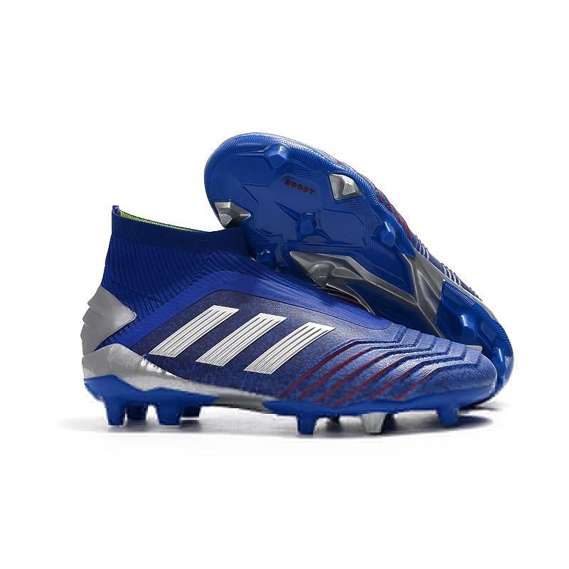 på fötter bilder av utsökt stil nya utgåvan adidas Predator 19+ FG Skor Herr - Blå Silver