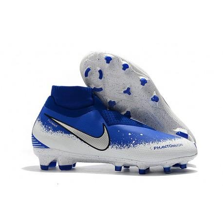Nike Phantom VSN Elite DF FG Fotbollsskor för Herrar - Blå Vit