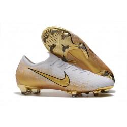 Nike Mercurial Vapor XII Elite FG Fotbollsskor för Män Vit Guld