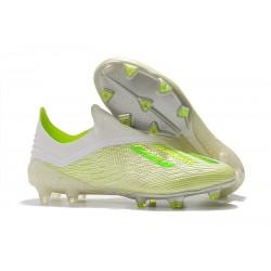 adidas X 18+ FG Fotbollsskor för Herrar - Vit Grön