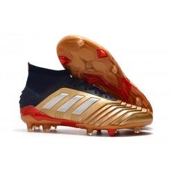 adidas Predator 19.1 FG Fotbollsskor - Guld Röd Silver
