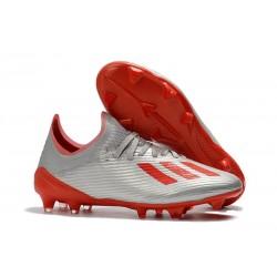 adidas X 19.1 FG Fotbollsskor för Herrar Silver Röd