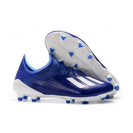 adidas X 19.1 FG Fotbollsskor för Herrar Blå Vit