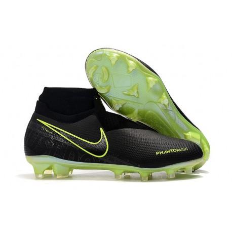 Nike Phantom VSN Elite DF FG Fotbollsskor för Herrar - Volt Svart