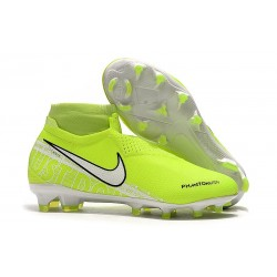 Nike Phantom VSN Elite DF FG Fotbollsskor för Herrar - Volt Vit
