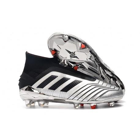 adidas Predator 19+ FG Skor Herr - Silver Svart