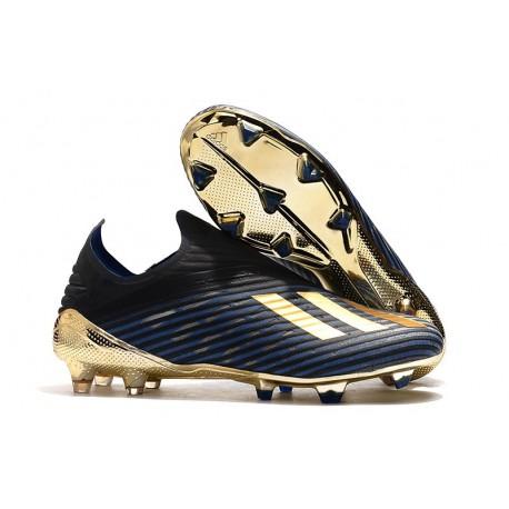 adidas X 19+ FG Fotbollsskor - Svart Blå Guld