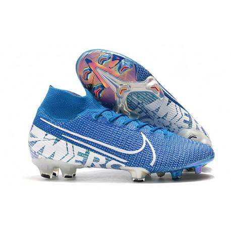 Fotbollsskor Nike Mercurial Superfly 7 Elite FG - New Lights Blå