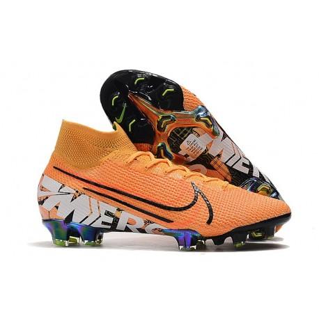 Fotbollsskor Nike Mercurial Superfly 7 Elite FG - Orange Svart Vit