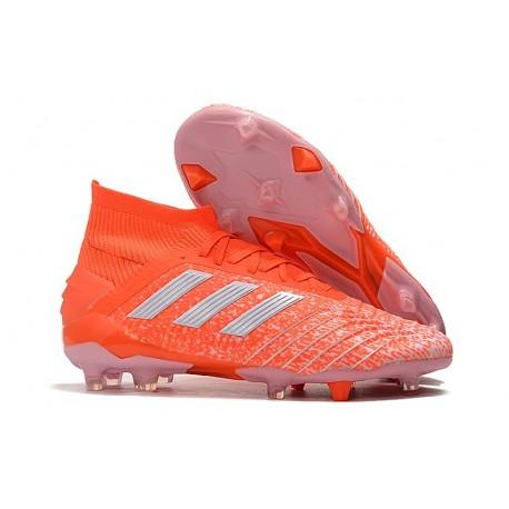 adidas Predator 19.1 FG Fotbollsskor - Orange Vit