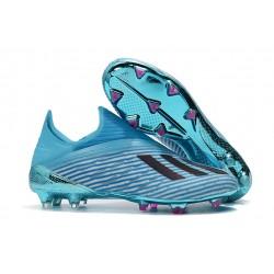 adidas X 19+ FG Fotbollsskor - Cyan Svart