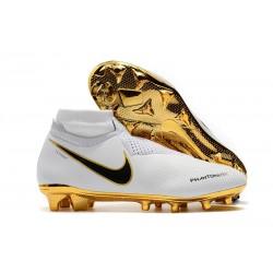 Nike Phantom Vision Elite DF FG Fotbollsskor för Män - Vit Guld