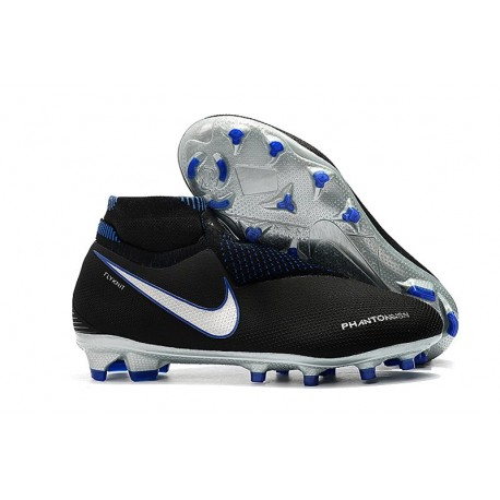 Nike Phantom Vision Elite DF FG Fotbollsskor för Män - Svart Blå