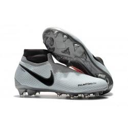 Nike Phantom Vision Elite DF FG Fotbollsskor för Män - Grå Röd