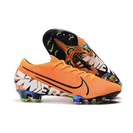 Nike Mercurial Vapor 13 Elite FG Fotbollsskor för Män - Orange Vit