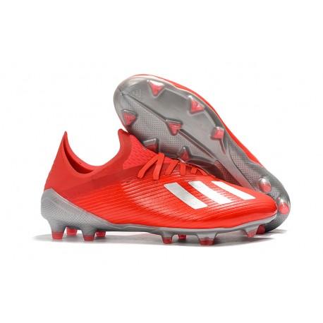 adidas X 19.1 FG Fotbollsskor för Herrar Röd Silver