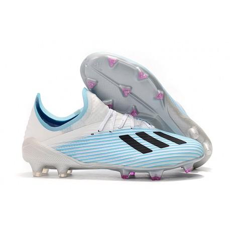 adidas X 19.1 FG Fotbollsskor för Herrar Vit Blå Svart