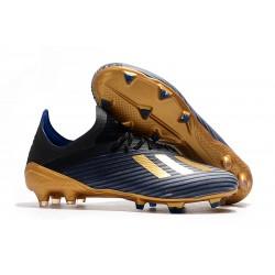 adidas X 19.1 FG Fotbollsskor för Herrar Svart Blå Guld