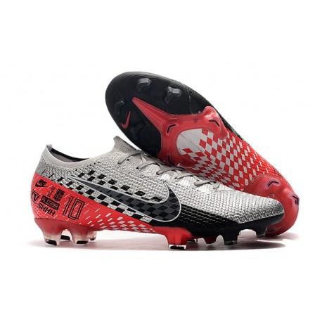 Fotbollsskor Nike Mercurial Vapor 13 Elite FG NJR Speed Freak - Krom/Svart/Röd