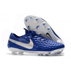 Fotbollskor Nike Tiempo Legend 8 Elite FG - Blå Vit