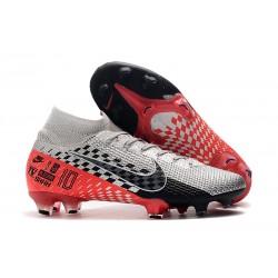 Fotbollsskor Nike Mercurial Superfly 7 Elite FG - NJR Chrom Czarny Czerwony Platyna