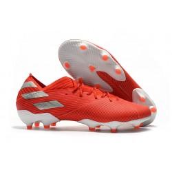 Fotbollsskor för Herrar adidas Nemeziz 19.1 FG Röd Silver