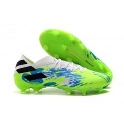 Fotbollsskor för Herrar adidas Nemeziz 19.1 FG Grön Blå Svart