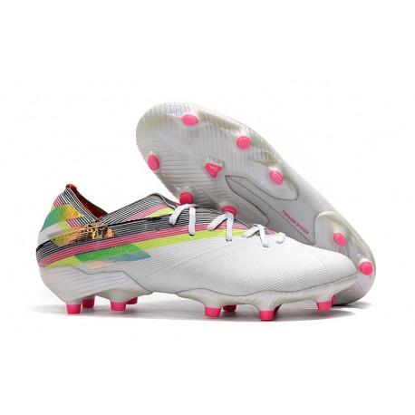 Fotbollsskor för Herrar adidas Nemeziz 19.1 FG Vit Flerfärgad