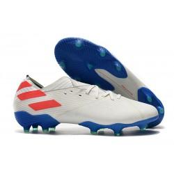 Fotbollsskor för Herrar adidas Nemeziz 19.1 FG Vit Blå Röd