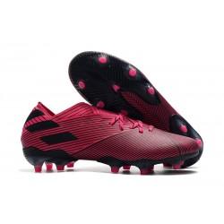 Fotbollsskor för Herrar adidas Nemeziz 19.1 FG Rosa Svart