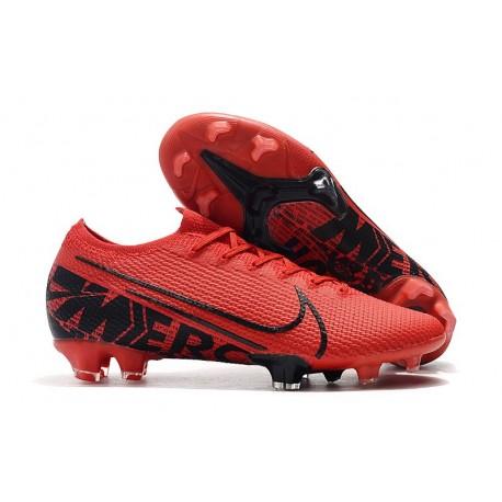 Fotbollsskor för Herrar Nike Mercurial Vapor 13 Elite FG Röd Svart