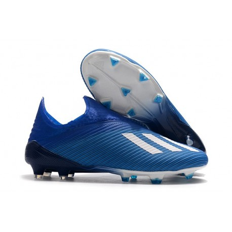 adidas X 19+ FG Fotbollsskor - Blå Vit